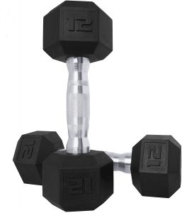 CAP Barbell Coated Hex Rubber Dumbbell Weights