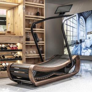NOHrD Sprintbok Curved Manual Treadmill Cherry