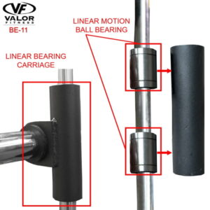 Smith press bar uses linear bearings for ultra smooth motion